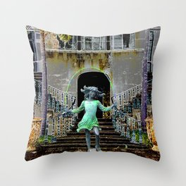 Ghost in a Madeira Mansion. Throw Pillow