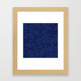Blue on Blue - Broken but Flourishing Botanical Pattern Framed Art Print