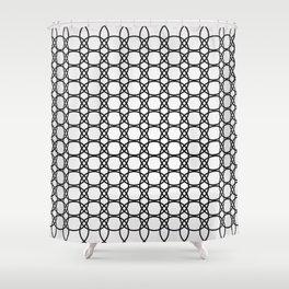 Eloos B&W Shower Curtain