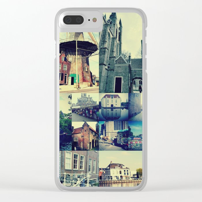 Photo collage Delft 5 Clear iPhone Case