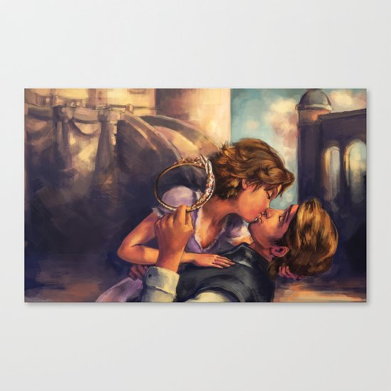 A Kiss for Corona Canvas Print