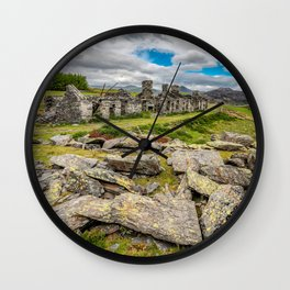 Rhos Quarry Cottages Snowdonia Wall Clock
