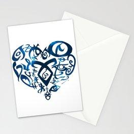 Shadowhunters rune - rune heart (blue galaxy) | Mundane | Parabatai | Alec, Izzy, Jace, Clary, Magnu Stationery Cards