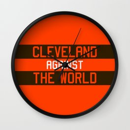 Cleveland Against The World Wall Clock