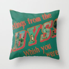 Welcome to the Abyss Throw Pillow
