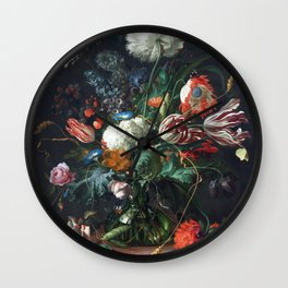 Jan Davidsz de Heem Vase of Flowers Wall Clock