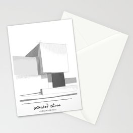 Cubic house No.3 - minimalist architecture Stationery Cards