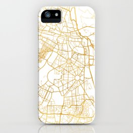 NEW DELHI INDIA CITY STREET MAP ART iPhone Case