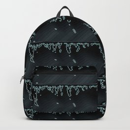 Black Beauty- Black and Grey Raindrop Abstract Pattern Backpack