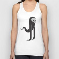 ghost Tank Tops featuring Ghost by parallelish