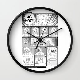 Mystic Messenger - Sick Yoosung comic Wall Clock
