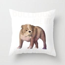 Bulldogs Are My Spirit Animal Throw Pillow