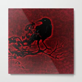 The Red Raven Metal Print