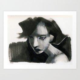 assassin (sharpie on paper) Art Print