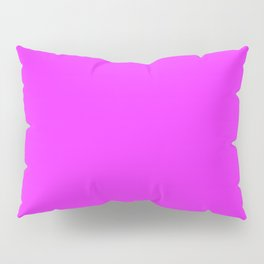 Solid Bright Neon Pink Color Pillow Sham