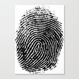 Fingerprint Canvas Print