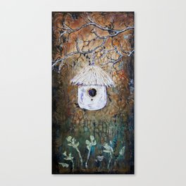 Boreal Bird House Canvas Print