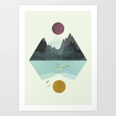 Storm and Calm Art Print