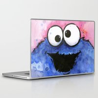 cookie Laptop & iPad Skins featuring Cookie Monster by Olechka