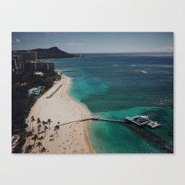 Waikiki Views From The Sky Canvas Print
