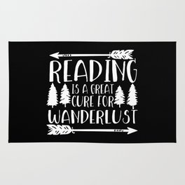 Reading is a Great Cure for Wanderlust (Inverted) Rug