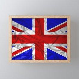Wrinkled Union Jack Flag Framed Mini Art Print