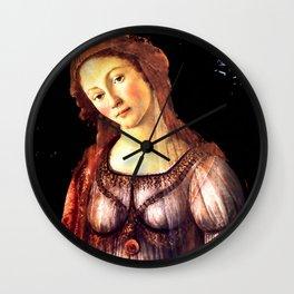 "Sandro Botticelli ""Primavera"" detail Wall Clock"