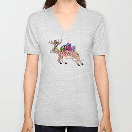 White tail deer Unisex V-Neck