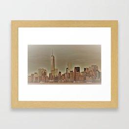 New York Harbor Framed Art Print