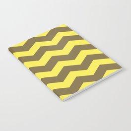 Chevron (yellow & brown) Notebook