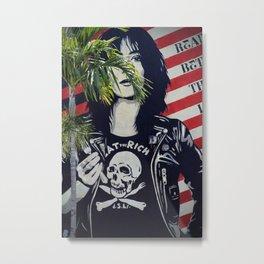 Eat The Rich Grafitti Metal Print