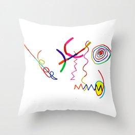Funky Way Doodle Throw Pillow
