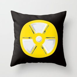 Polluted - Dinner Time Symbol Throw Pillow