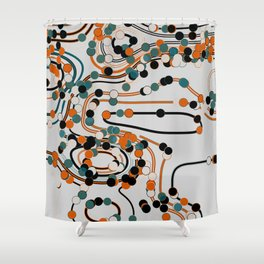 dots/lines6 Shower Curtain