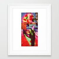 whatever Framed Art Prints featuring Whatever by Alec Goss