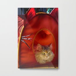 Cleopatra in her little cat house Metal Print