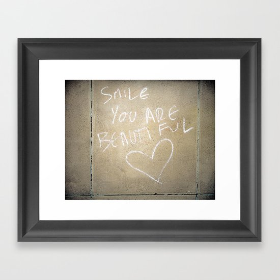 Smile, You Are Beautiful! Framed Art Print