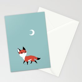 Moon Fox Stationery Cards