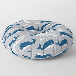 Whales nautical ocean theme grey kids room nursery boys or girls decor Floor Pillow