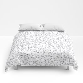 Dinosaurs Outline Pattern Comforters