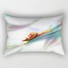 The Snail (Pretty Bokeh Background) Rectangular Pillow