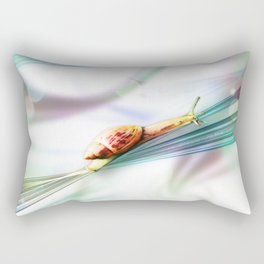The Snail (Pretty Bokeh Background) Rectangular Pillow