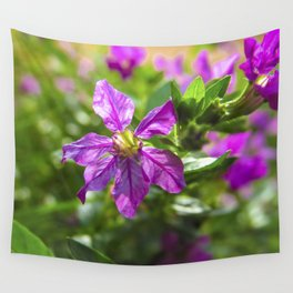 Violet Flowers Wall Tapestry