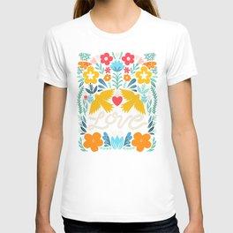 Love bird garden T-shirt