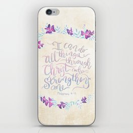 I Can Do All Things - Philippians 4:13 iPhone Skin