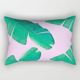 Banana Palm, muck and teal Rectangular Pillow