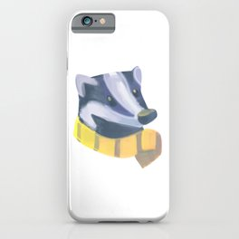 Magic cute Badger with scarf iPhone Case