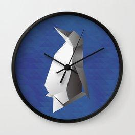 Paper origami Penguin Wall Clock