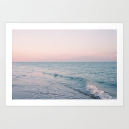 Pink and Turquoise Art Print