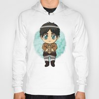 shingeki no kyojin Hoodies featuring Shingeki no Kyojin - Chibi Eren by Tenki Incorporated